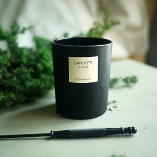 Ink black scented candle 150ML / with cover