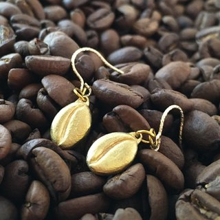 Coffee beans ◆ Gold earrings