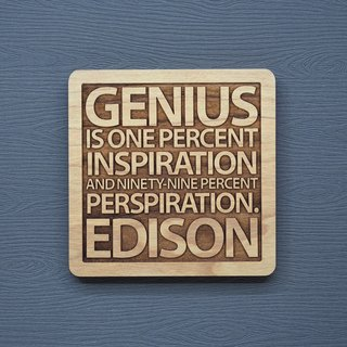 A word of the wood coaster genius is one percent of inspiration plus ninety-nine percent of the effort