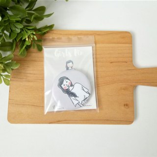 """Simple Life"" Girl Button"