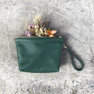 [BEAUTY BAG] ZiBAG-035 / Cosmetic bag / dark green