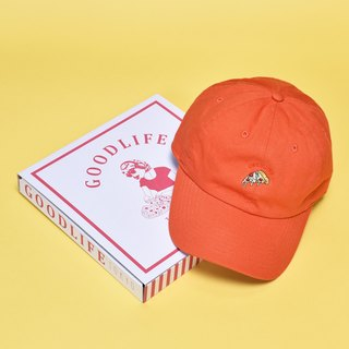 'PIZZA SLICE' Needle Work Cap ORANGE