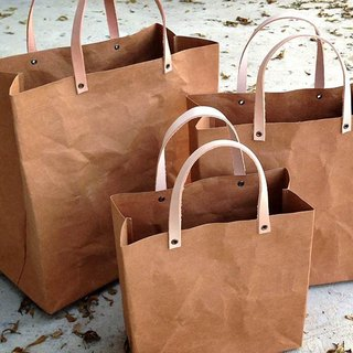 Shopping Bag Set : Tyvek and Kraft paper bag