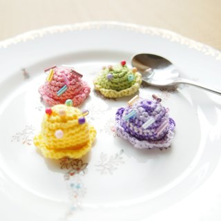 Custom hand-woven cute sweet ice cream items and chain strap BP022