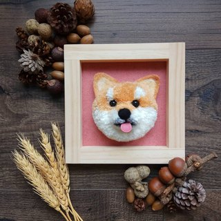 Customized hair ball pet dog pin area