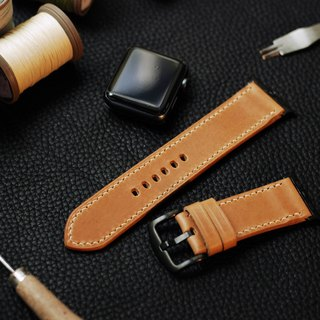 Applewatch leather hand strap strap - deep camel [Italian Association certification] [buttero]