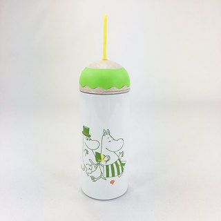 Moomin Moomin authorized - color to bring cute modeling thermos (green and white)
