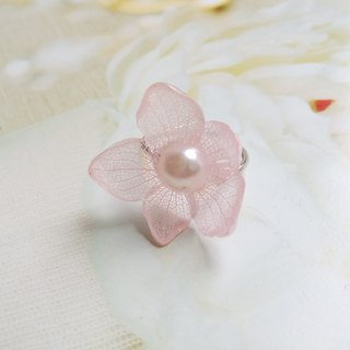 Real flower ring - UV epoxy resin jewelry - Ring with Dried flower