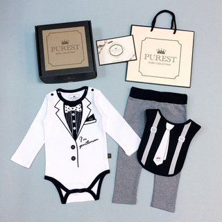 PUREST small gentleman fully armed / white suit / luxury gift box / baby moon / birthday / gift preferred
