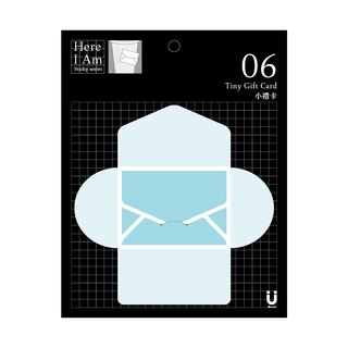 [Miccudo] | small gift card | 2017 new color blue lake Greeting Cards Mail mail phrased privacy sticky