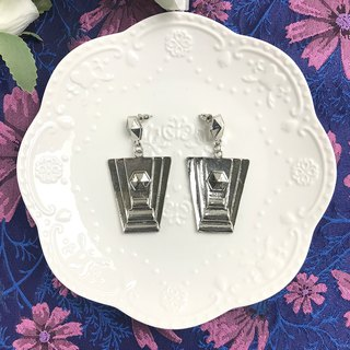 Vintage Silver Geometric Dangle Antique Earrings BLA056
