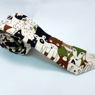 Soft silk hair band - coffee green animal