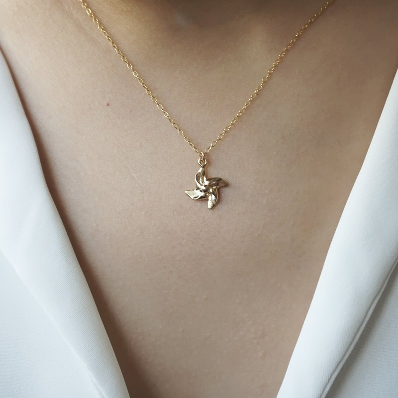 Mini Windmill Necklace - 14K Gold Filled