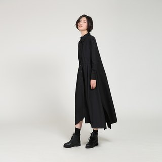 BUDU non-black Irregular long paragraph shirt dress