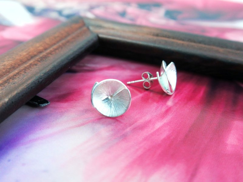 Sterling Silver Handmade Flower Earrings