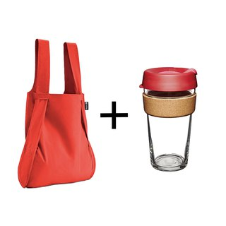 German Notabag Note Bag - Heat + Australia KeepCup Cork Series L - Passion