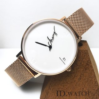 ID.watch customized name pointer watch - handwritten signature style