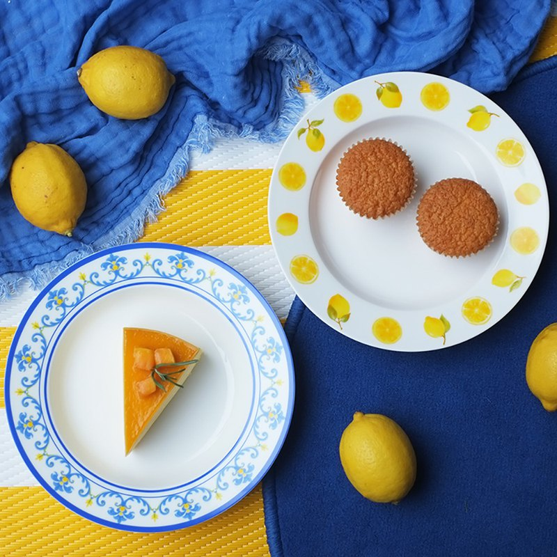 Sicilian lemon series bone china plate gift box