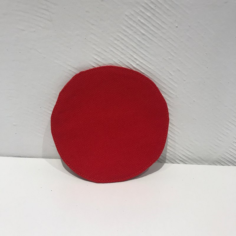 Can be succulent - red 吱吱 round canvas coaster