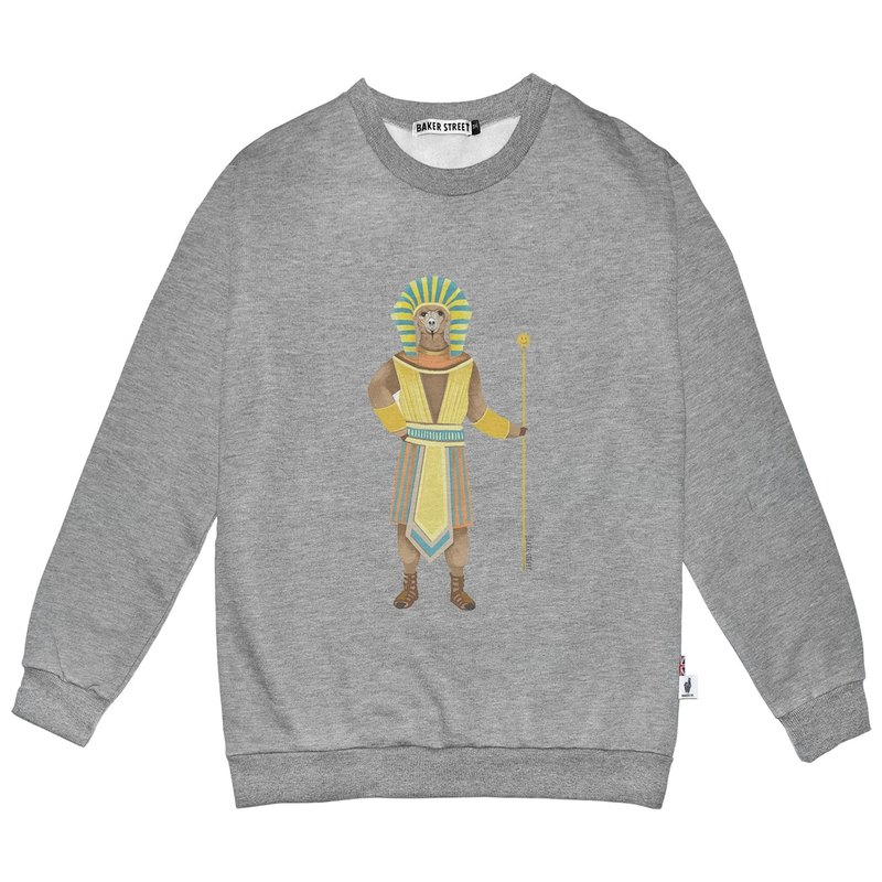 British Fashion Brand -Baker Street- Alpaca Pharaoh Printed Sweatshirt