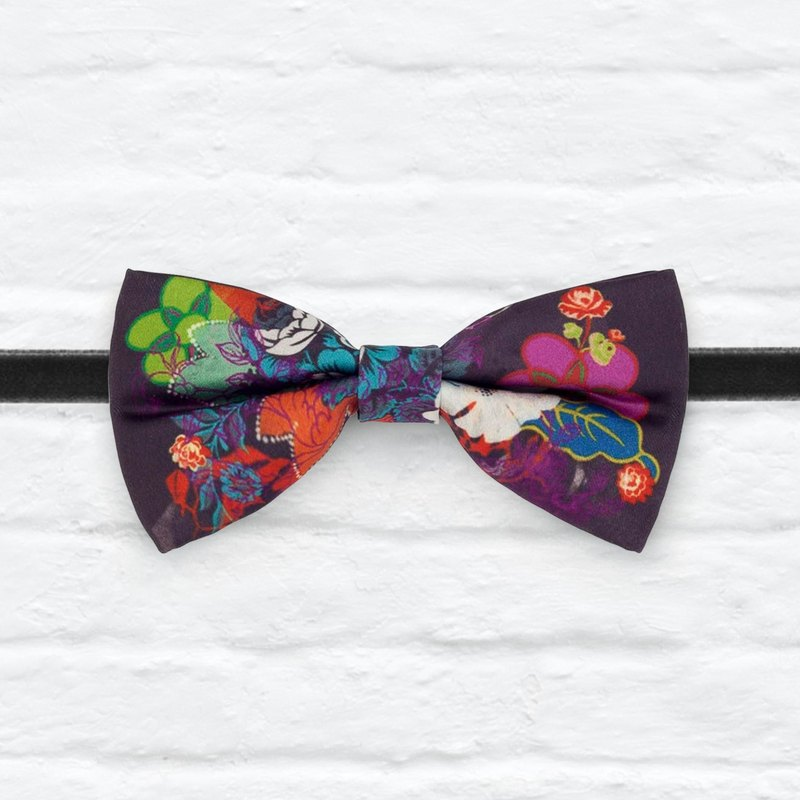 Style 0033 Purple Floral Bowtie - Modern Boys Bowtie, Toddler Bowtie Toddler Bow tie, Groomsmen bow tie, Pre Tied and Adjustable Novioshk