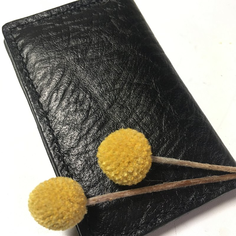 Self introduction* Streamlined leather business card holder