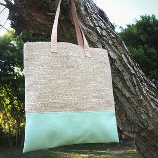 Natural wind handbag - green lake