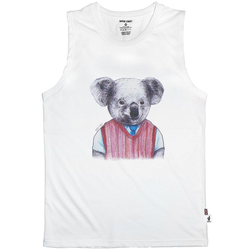 British Fashion Brand -Baker Street- Koala Printed Tank Top