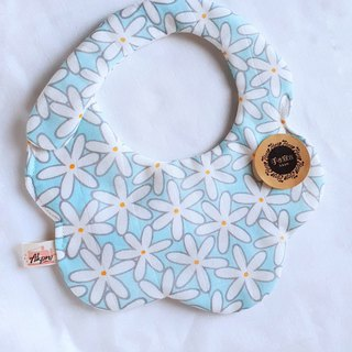 Flower Scoop - Light Blue - Eight-layer Yarn with Circular Arc Shaped Bib
