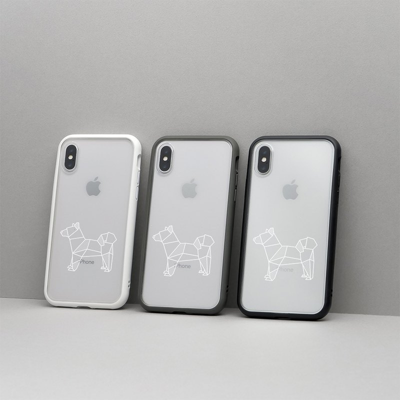 Mod NX frame back cover dual-use shell / geometry - guardian dog for iPhone series