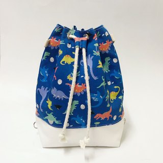 Dinosaur Blue Bundle Bucket Bag (Hand/Shoulder/Back)