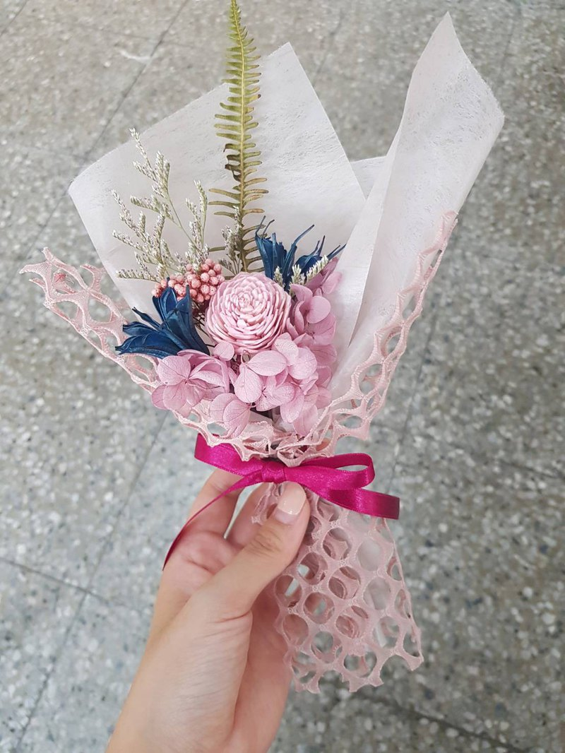 Small bouquet [Pink Bubble Soda] Dry Bouquet Valentine's Day Bouquet Birthday Gift Tanabata Bouquet