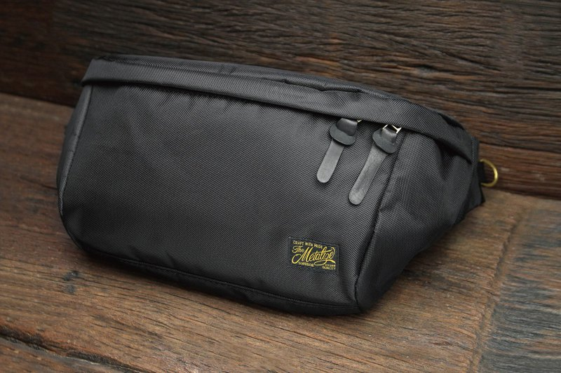 "【METALIZE】""CASUAL DAY"" Waist Bag 高密度尼龍腰包(黑色)"