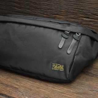 "【METALIZE】""CASUAL DAY"" Waist Bag High Density Nylon Waist Bag (Black)"