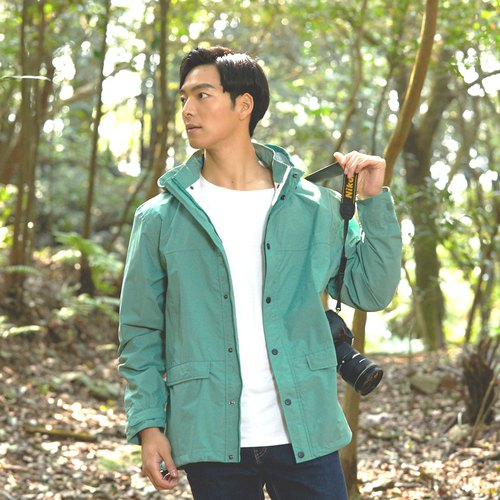 Metropolis function waterproof jacket - Green bluestone