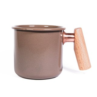 Wooden handle cup 400ml (cocoa)