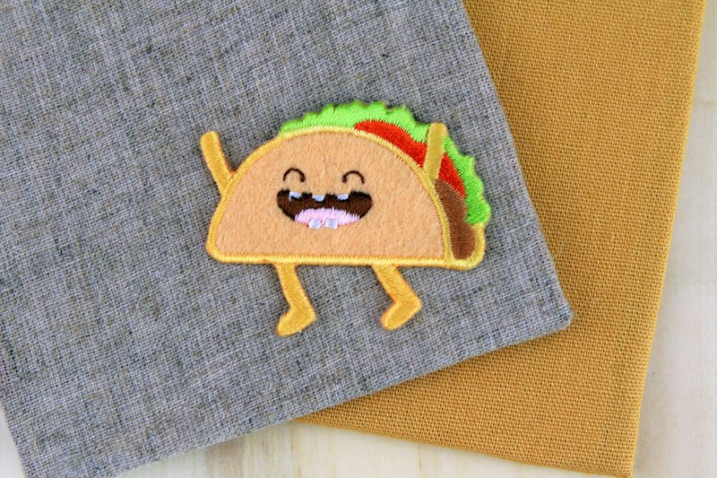 Laugh Mexican mexico self-adhesive embroidered cloth stickers - Happy fast food series
