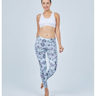 Aurora stretch tight yoga pants / lake light