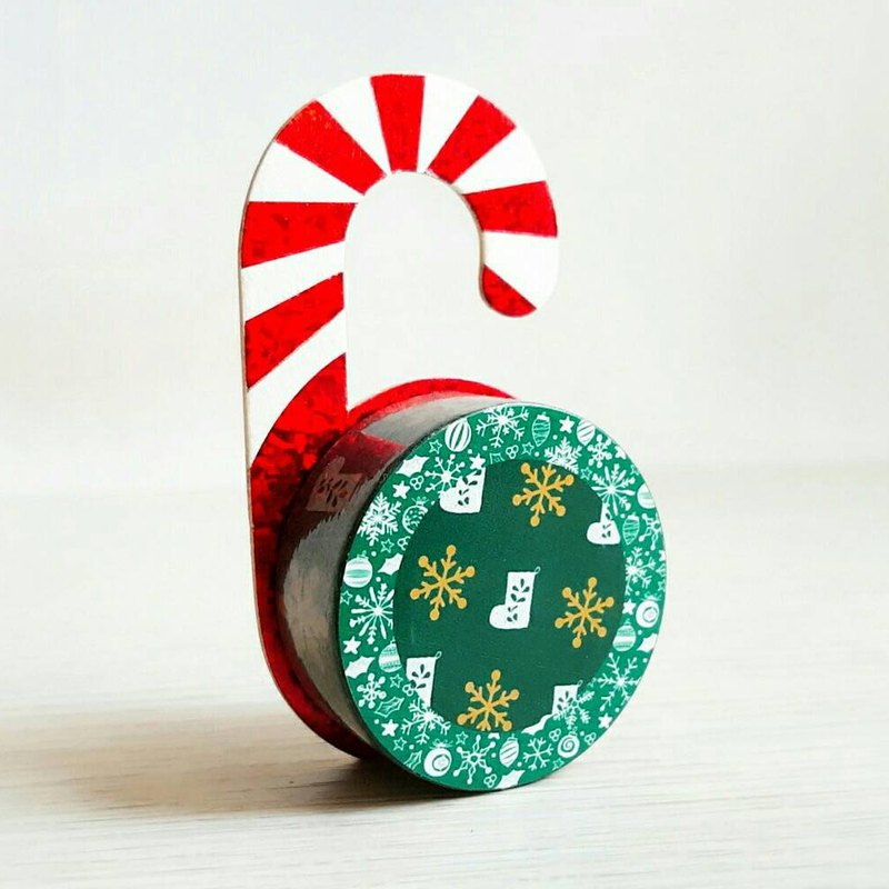 [Hoppy] Christmas paper tape X'mas-G Snow / GTIN: 4713077971796