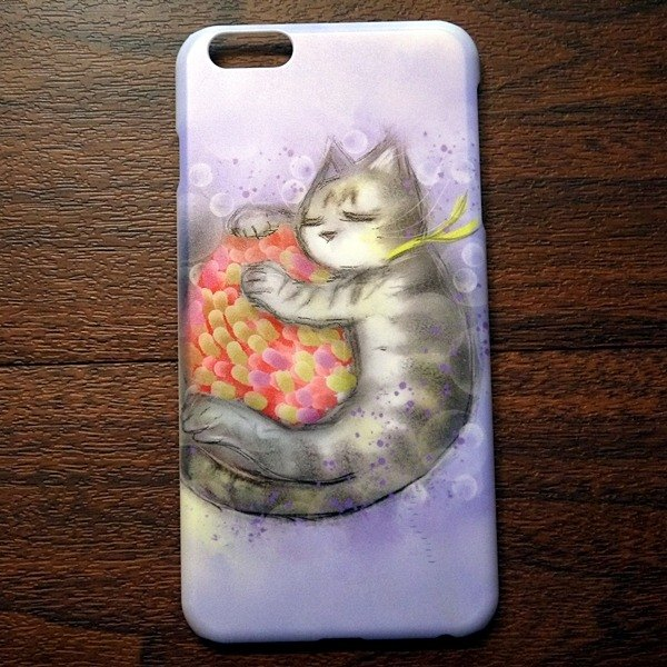 Watercolor cat s021 embrace the dream of David painted cat iPhone (i5.i6s, i6splus.I7.I7plus) / Android (Samsung, Samsung, HTC, Sony) designer mobile phone shell / protective cover / kitty cat phone shell