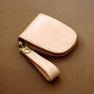 Saddle leather pass case (flat type)
