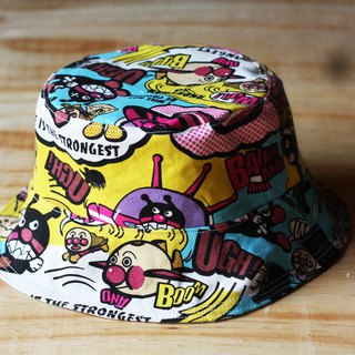 Cartoon bread superman double sided fisherman hat