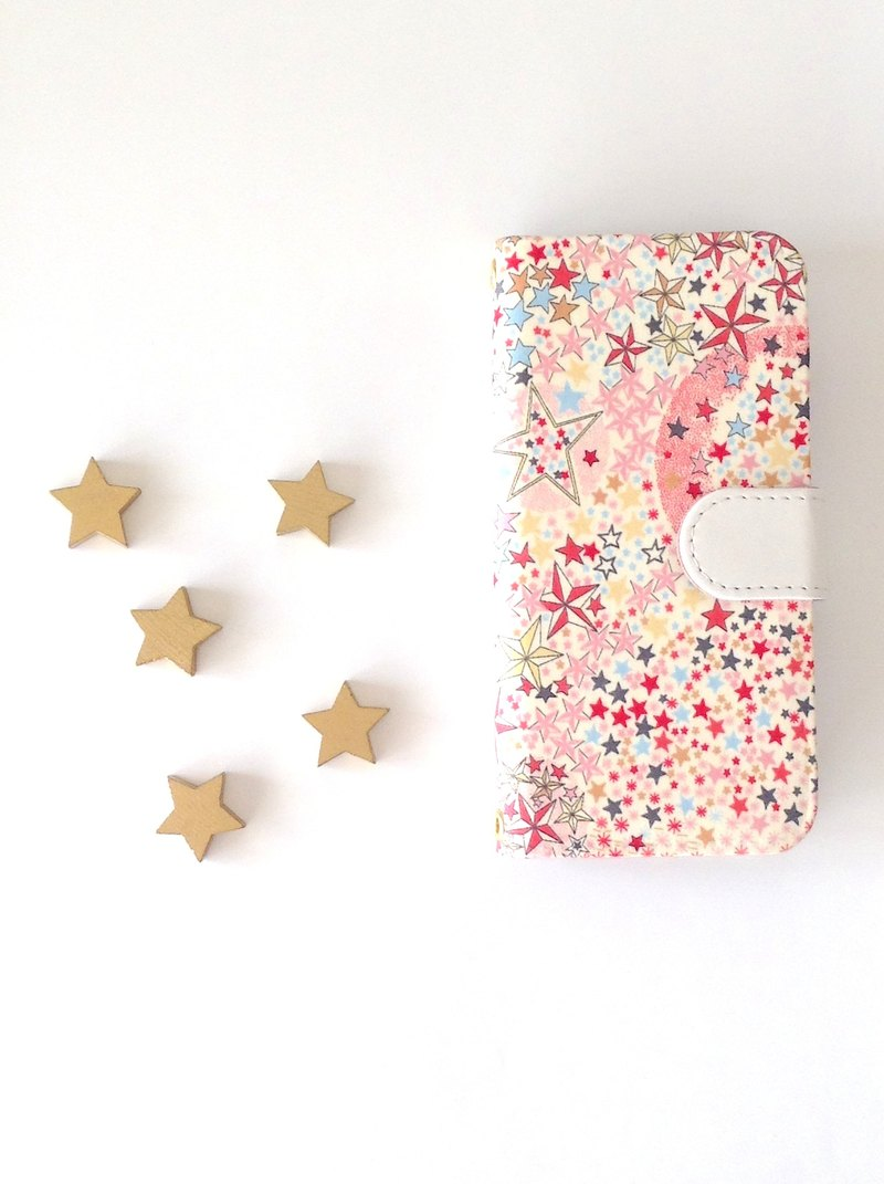 Liberty iphone 7.8 notebook type case star of glitter