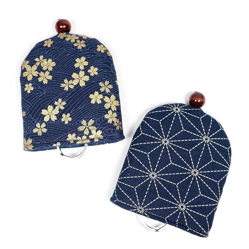可愛 半圓 鑰匙圈 鑰匙包 - 日式櫻花 / 龜殼甲