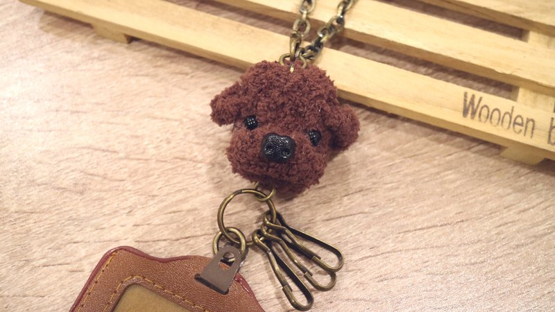 Poodle universal ticket holder ornaments