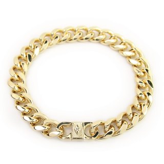 [METALIZE] Radiation M-squared Bi-color Metal Bracelet (Gold)