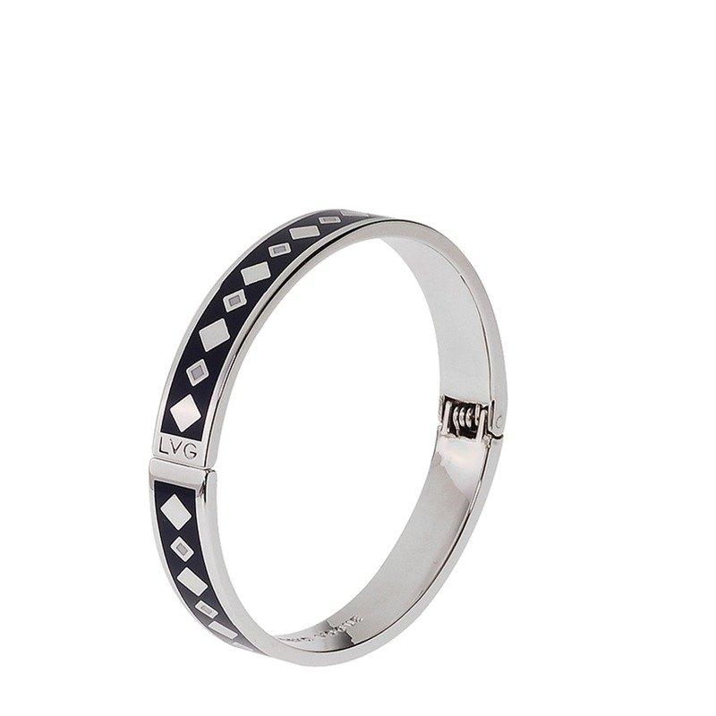 古典主義 Jean Racine 掐絲琺瑯系列 開口手環 (銀)-01001151243