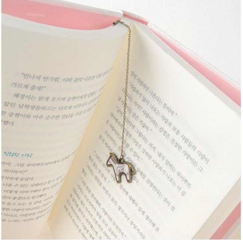 Unicorn white bookmark
