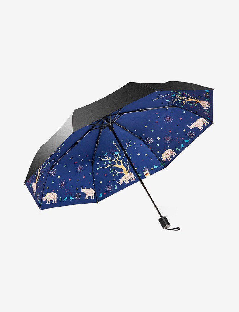 Boy Folding Umbrella - By3022