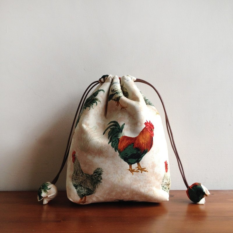 Shop cotton milk white rooster bundle pockets gift bags versatile bags